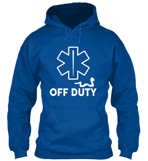 Off Duty Royal T-Shirt Front