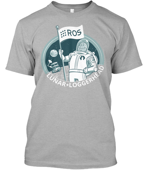 Ros Lunar Loggerhead Athletic Heather T-Shirt Front