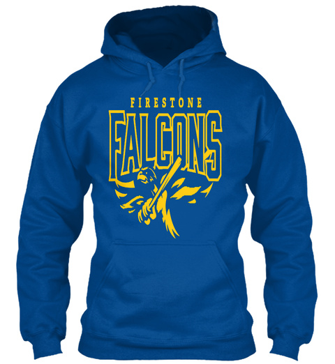 Firestone Falcons   Hoodies Royal T-Shirt Front