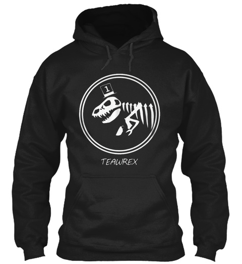Teawrex Black T-Shirt Front