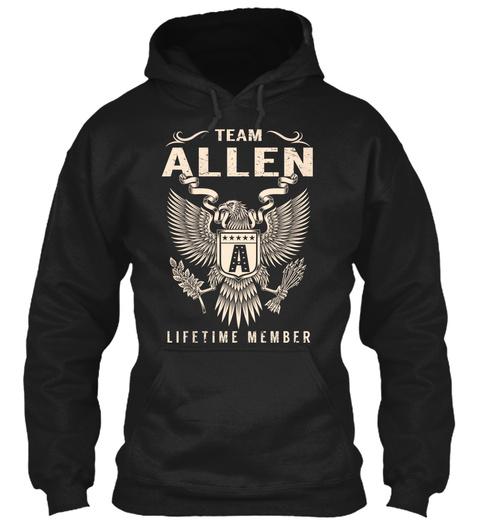 Team Allen Lifetime Member Black T-Shirt Front