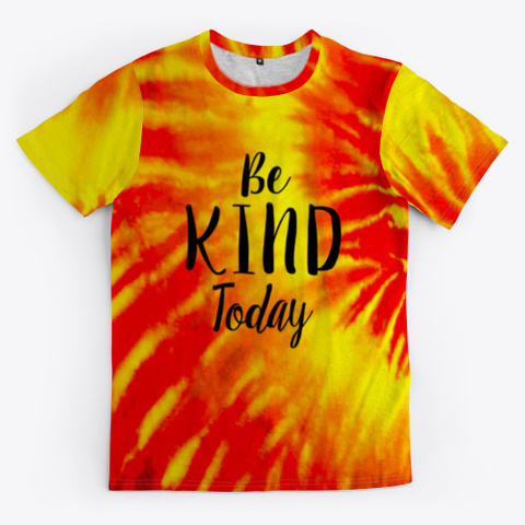 be kind tie dye mask shirt