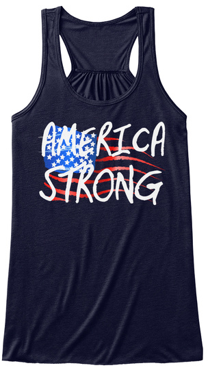 America Strong Midnight Women's Tank Top Front