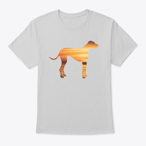 Great Dane Sunset Light Steel T-Shirt Front