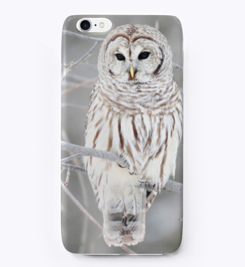 Cute White Owl Phone Case Standard T-Shirt Front