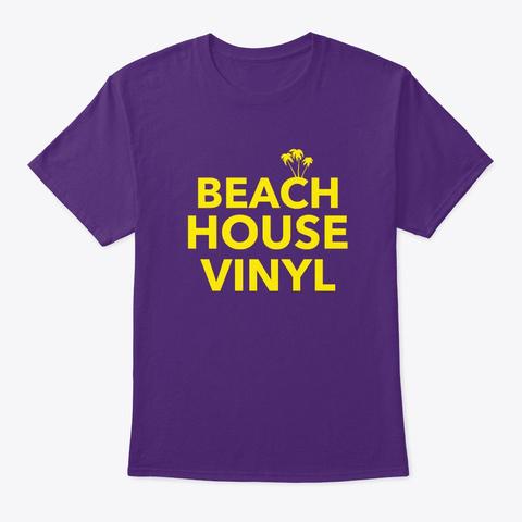 Beach House Vinyl Afro House Dj Beach Purple T-Shirt Front