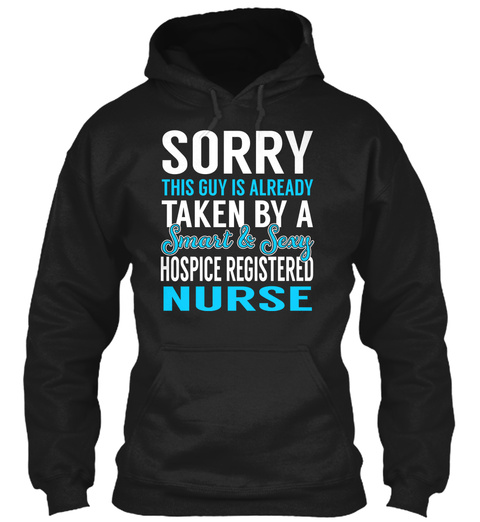 Hospice Registered Nurse   Smart Sexy Black T-Shirt Front