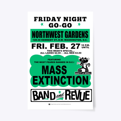 Mass   Nw Gardens   Poster White T-Shirt Front