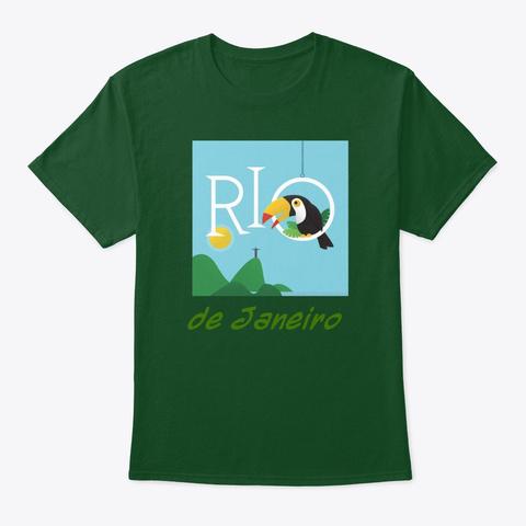 Rio De Janeiro Deep Forest T-Shirt Front