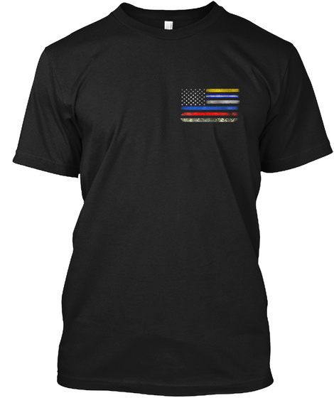 Heroes Flag Original Black T-Shirt Front