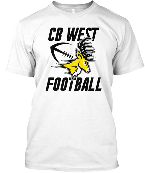 Cb West Football White T-Shirt Front