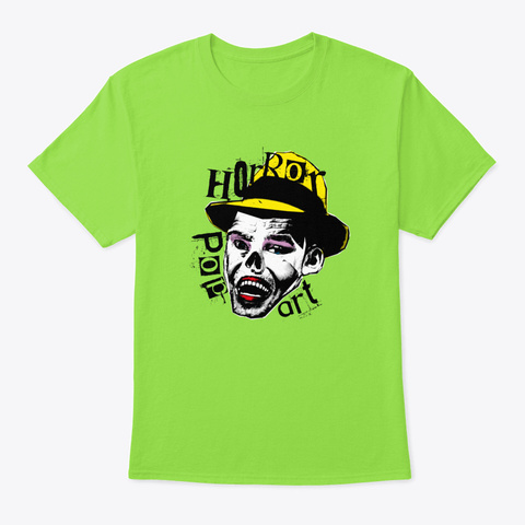 Witch   Horror Pop Art Lime T-Shirt Front