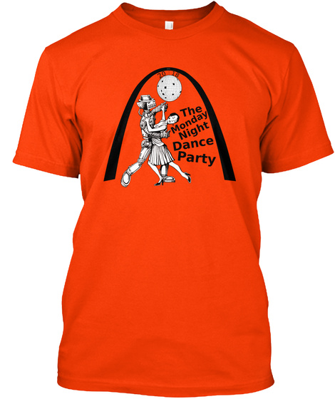 Monday Night Dance Party 6th Anniversary Orange T-Shirt Front