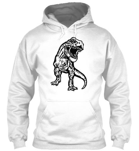 Tyrannosaurus Rex T Shirts   Mens V Neck White T-Shirt Front