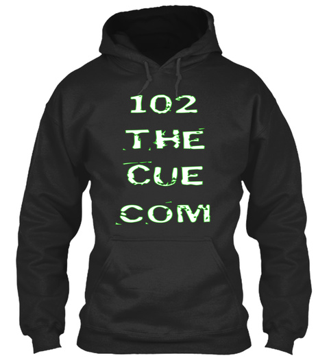102 The Cue Com Jet Black Sweatshirt Front