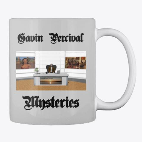 Gavin Percival Mysteries Series Light Grey T-Shirt Back