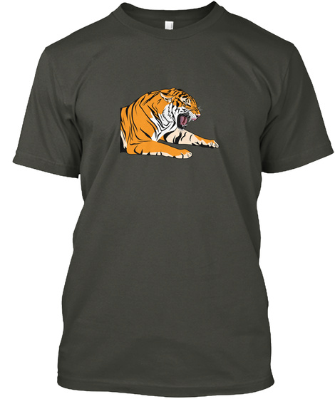 Tiger Smoke Gray T-Shirt Front