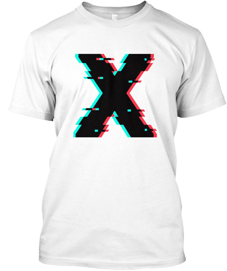 Glitchy X   Tees, Tanks And Hoodies White T-Shirt Front