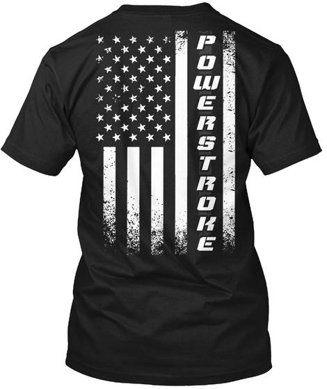 Powerstroke Black T-Shirt Back