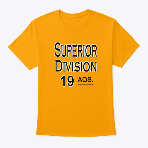 Camiseta Aquarist Champion Gold T-Shirt Front