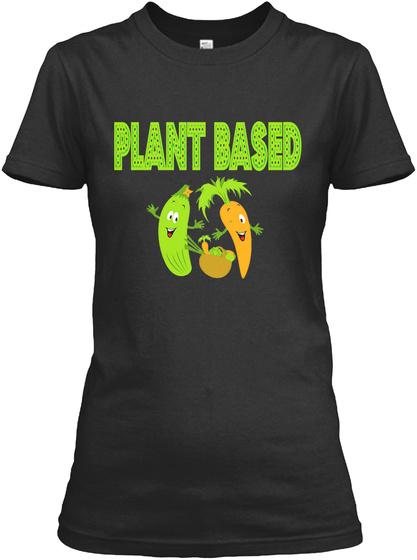 Plant Based Black T-Shirt Front