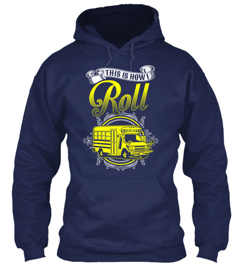 This Is How I Roll  Navy Sweater Front