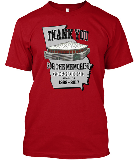 Ga Dome Commemorative Apparel  Deep Red T-Shirt Front