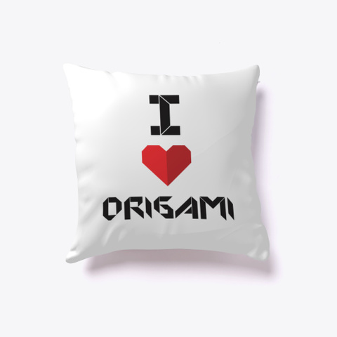 I Love Origami White T-Shirt Front