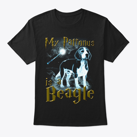 Patronus  Beagle Black T-Shirt Front