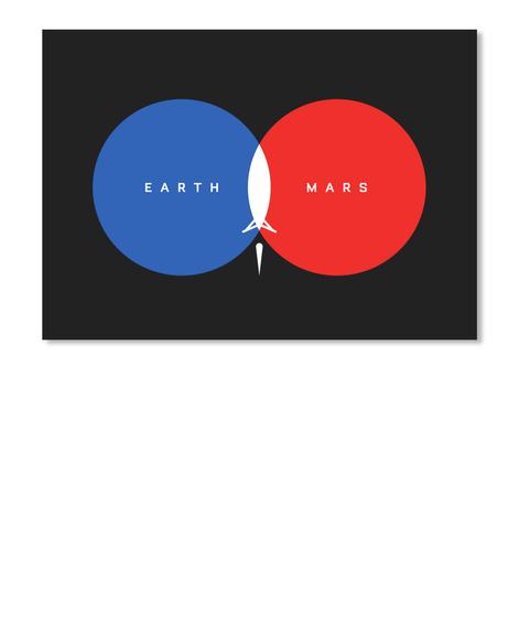 From Earth To Mars Sticker [Int] #Sfsf Black Sticker Front
