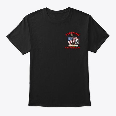 Vietnam Vet Never Underestimate Black T-Shirt Front