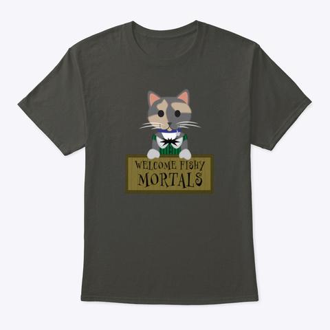 Kiki Donates Fishies! Smoke Gray T-Shirt Front