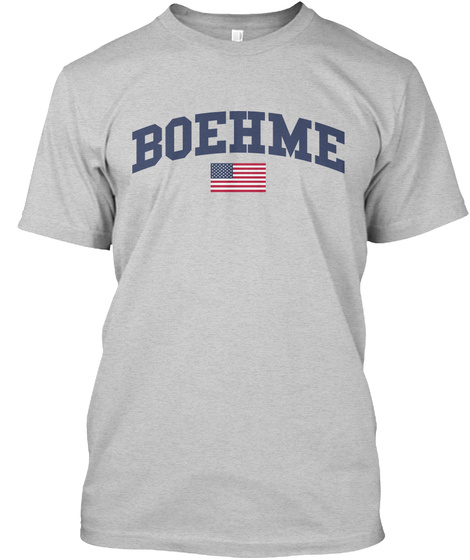 Boehme Family Flag Light Steel T-Shirt Front