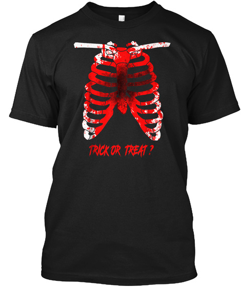 Halloween Scary T Shirts Black T-Shirt Front