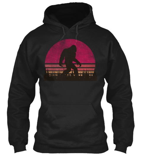 Bigfoot Hoodie   Sasquatch Hoodie Black Sweatshirt Front