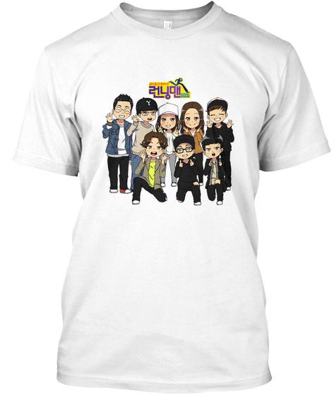 Running Man For Eu White T-Shirt Front