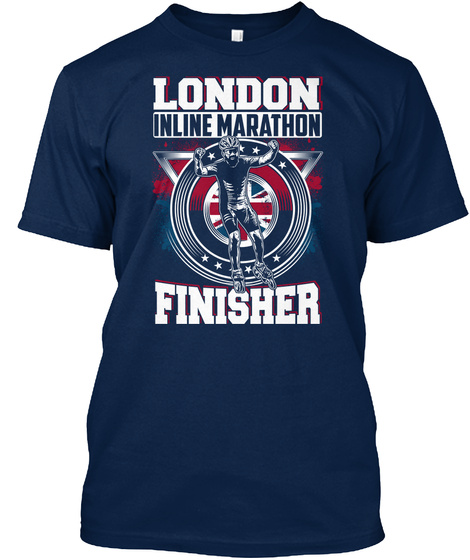 London Inline Marathon Finisher Navy T-Shirt Front