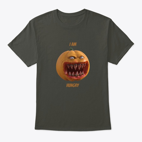 I Am Hungry, Halloween, Scary Shirt Smoke Gray T-Shirt Front