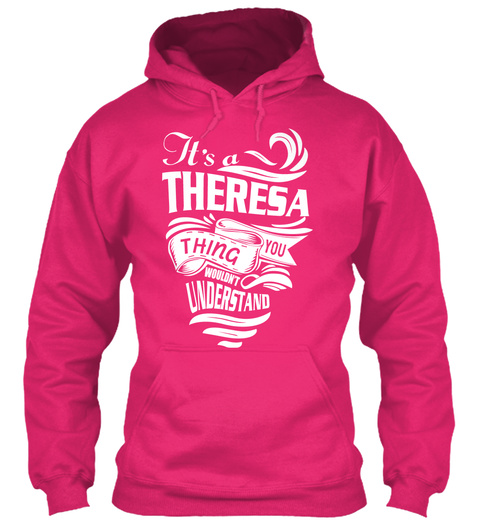 Never Underestimate The Power of Theresia Hoodie Black