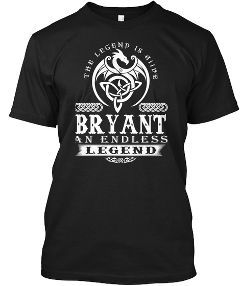 The Legend Is Alive Bryant An Endless Legend Black T-Shirt Front