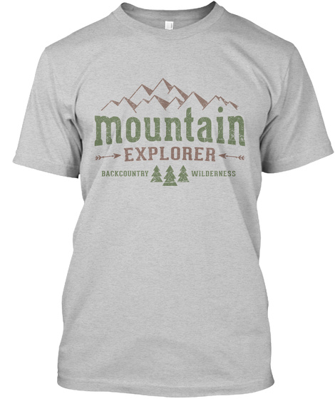 Mountain Explorer Backcountry Wilderness Light Steel T-Shirt Front