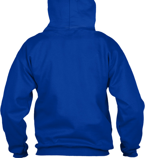 Sl34  Hoodies Royal Blue T-Shirt Back