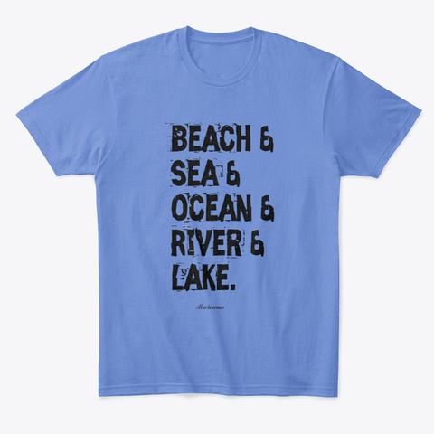 Beach & Sea &Ocean Heathered Royal  T-Shirt Front