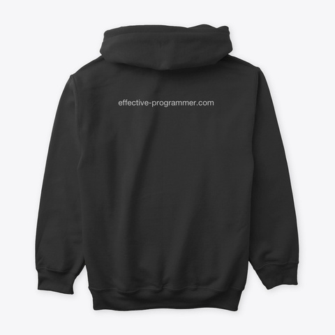 Effective Programmer Black T-Shirt Back