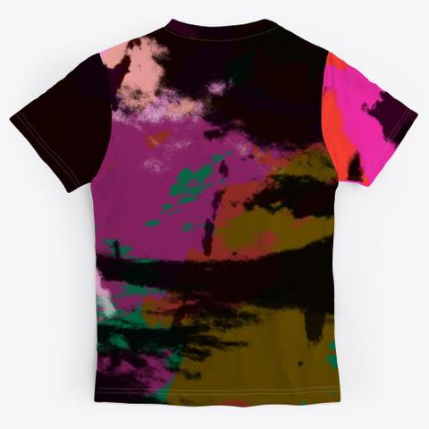 Listen Think Answer   Batik Tie Dye Art Standard T-Shirt Back