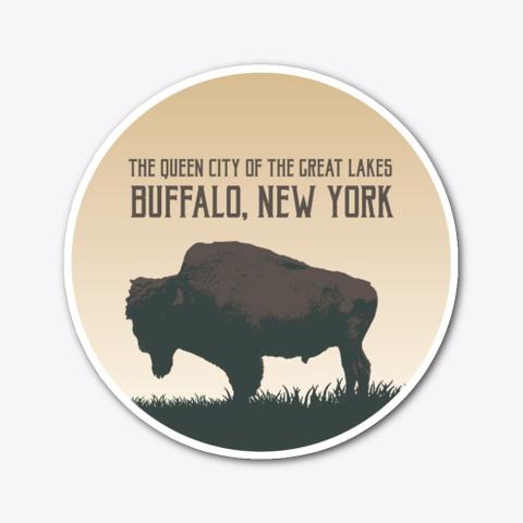 Buffalo Bison Moon Standard T-Shirt Front