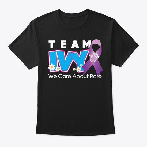 Team Ivy Black T-Shirt Front
