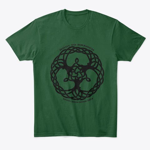 Pacific Circle Revival   Root To Branch Forest Green  T-Shirt Front