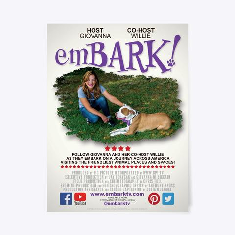 Em Bark! Poster White T-Shirt Front