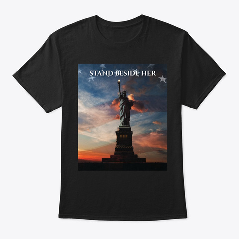 Never Forget 9/11 Heart Benefit Black T-Shirt Front